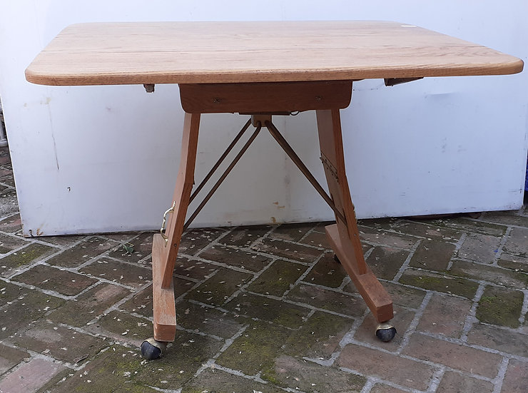 Convertible Table; Coffee Table and/or Dining Table, Oak