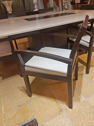 """""""Interi"""" Dining Room Set, 8 Armchairs and Buffet"""