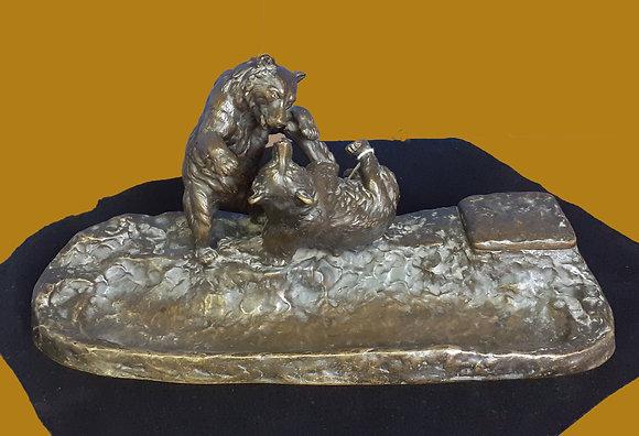 Viennese Bronze Inkwell by Edmund Csadek