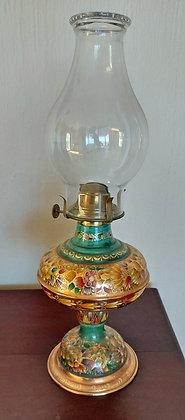 Enameled Copper Oil Lamp, Casa Felicitas, Santa Clara de Cobre