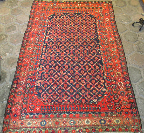Kurdish Hamadan Rug from the 1920's. 1.3 m by 2.m