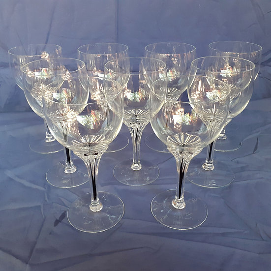 """Fine Crystal Stemware. 9 pieces, 6 3/4"""" tall, NEW ITEM in store"""