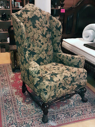Italian Arm Chair William and Mary Style Wing Back