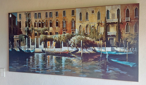 """Giclee Painting, Grand Canal in Venice, 60"""" x 30"""" . Ex. Condition"""