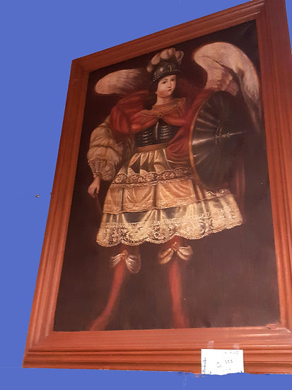 oil painting of archangel, Peru