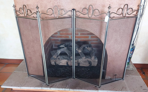 Fireplace Set, Screen and Tools, Sold As-Is