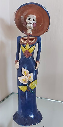 """Katrina, Mexican Day of the Dead Figure, 17"""" tall"""