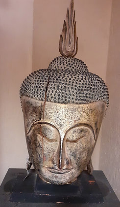 Vintage Hand Carved Buddha Head