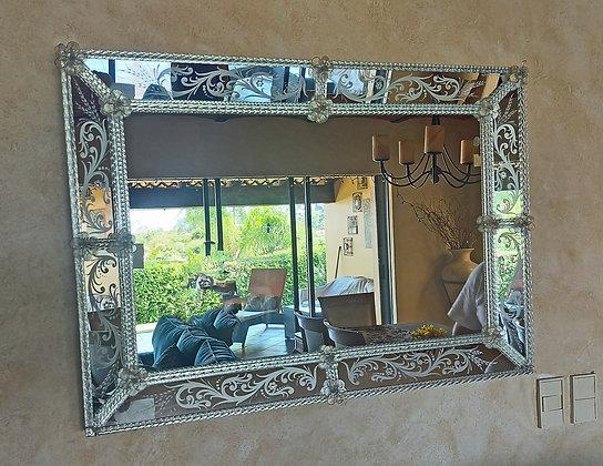 "Beautiful Hand Made Mirror from Murano, Venice, Italy,  39"" x  27.5"""