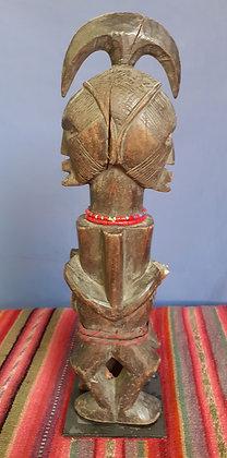 Teke group, wood figure,  Congo, Janus