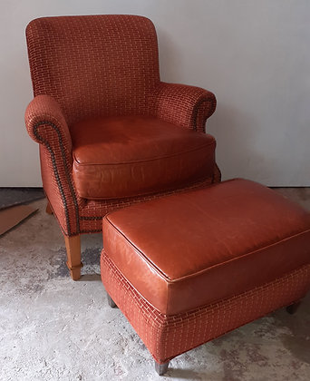Leather-armchair-and-footstool