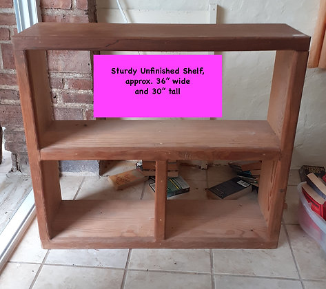 Sturdy Shelving, Unfinished, Rustic Mexican Shelf