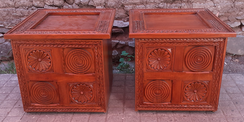 Pair of Table Lamps from Egypt