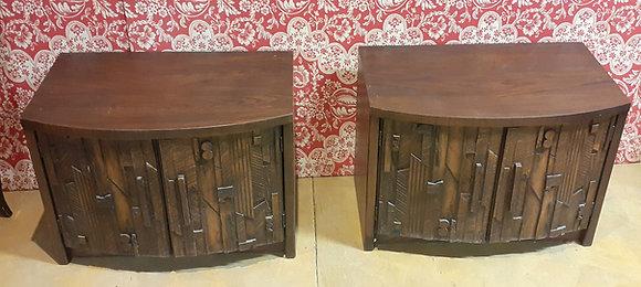 A Pair of Paul Evans Design, Mid Century Lamp Tables