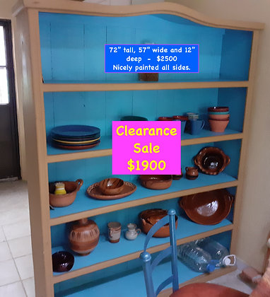"""Mexican Rustic Bookcase, Painted, 72"""" tall, 57"""" wide"""