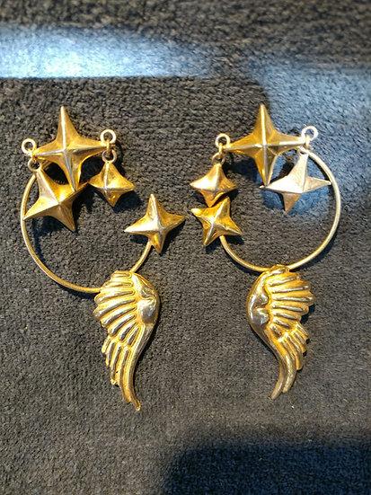 Hubert Harmon Earings Cuffs