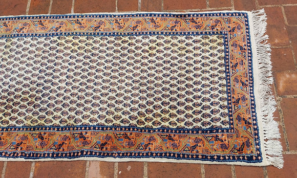 """Wool Knotted Runner  from India, 110"""" long by 29"""" wide"""