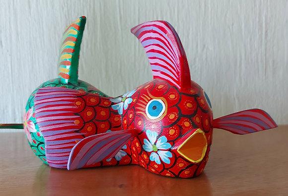 Alebrije, Unsigned, Pr. Of Fish. Paperweight
