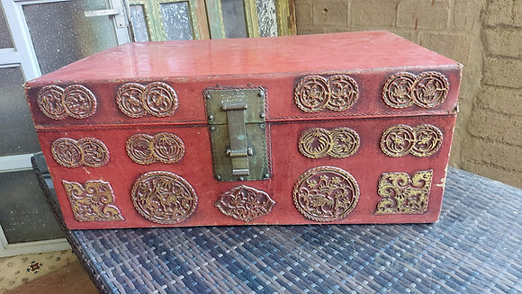 Antique Leather Trunk from China,  50% OFF