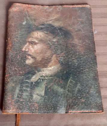 Hand Painted Leather Book Cover