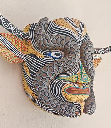 Yellow Bull w/Snakes, Michoacan Mask, Ocumichu