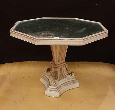 Mesa de Pedestal Con Tapa de Vidrio