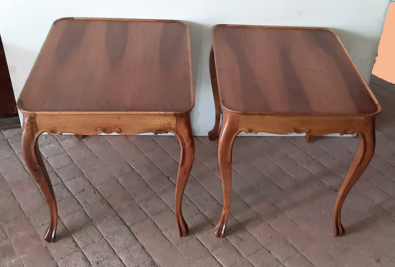 Italian FruitWood Lamp Tables