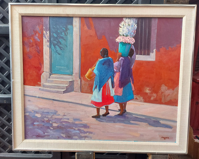 oil-painting-by-mulder-typical-mexican-street-scene