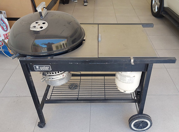 Weber Performer Charcoal Grill, Gas Lighting