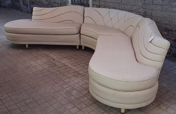 1960's Streamline Sectional Sofa