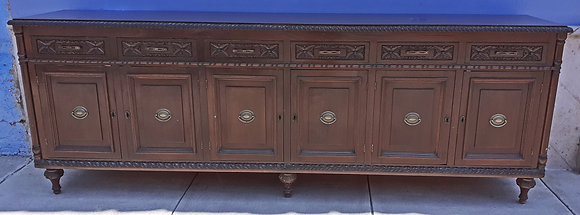 """Very Long Mexican Made Sideboard/Cabinet, 102"""" wide"""