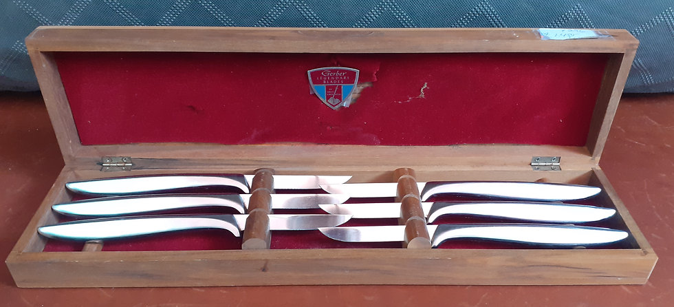 Vintage Gerber Miming Steak Knives