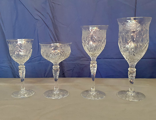 Royal Brierley Crystal Stemware, set of 46 pieces .. NEW ITEM in store!