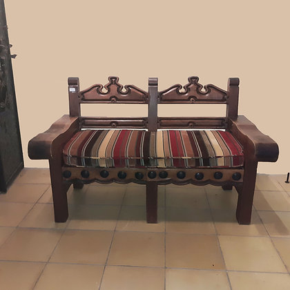 Mexican Rustic Colonial Style Settee