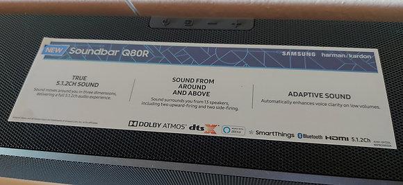 Samsung HW-Q80R 370W Virtual 5.1.2-Channel Soundbar System