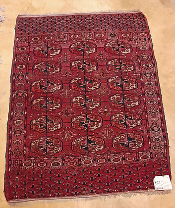 "Semi-Antique-Turkoman-Tekke-Rug,  Ca. 1940 ,  3' 2"" x 4'"