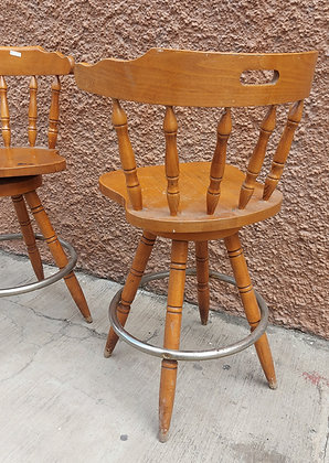 "2 Maple Bar Stools, Swivel, 38"" tall,  25"" Seat Height"