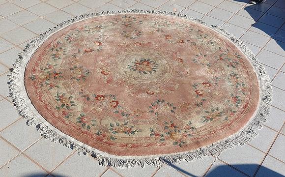 Chinese-round-rug-9'-diameter-wool