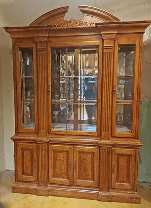 China-Cabinet-glass-shelves-leaded-beveled-glass