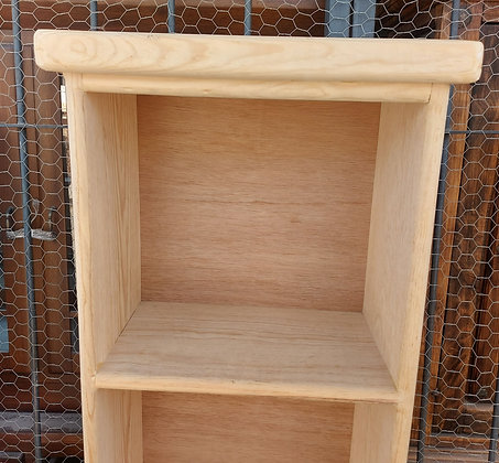 """Unfinished Wooden Shelf,  71"""" tall"""