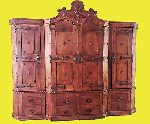 """Large Mexican Mezquite Storage/TV Cabinet   8"""" 3"""" tall"""