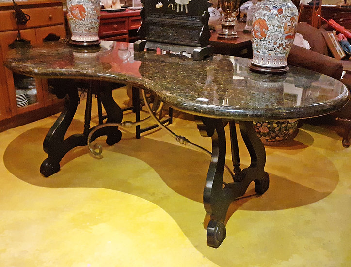 Spanish Table with granite top