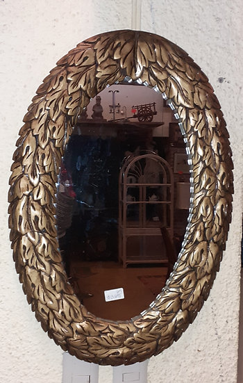 Acanthus Wreath Oval Mirror