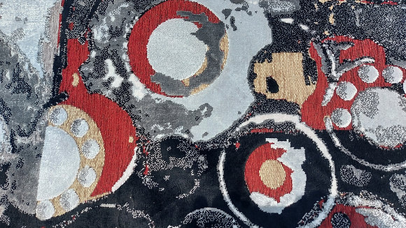 """Contemporary Egyptian Machine Rug,  92"""" by 62"""""""