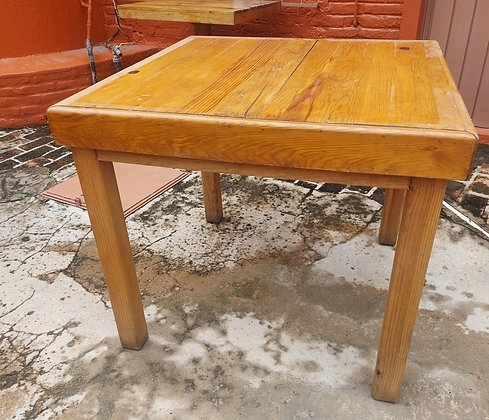 """Good Strong Restaurant Table, 31 1/2"""" sq. Table, 31"""" tall."""