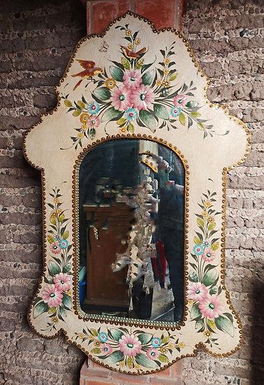 Mirror-Vintage-Tlaquepaque-Hand-Painted-leather-metal-leaf