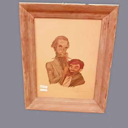 Mendoza-Straw-Painting-signed-mendoze-Don-Quijote
