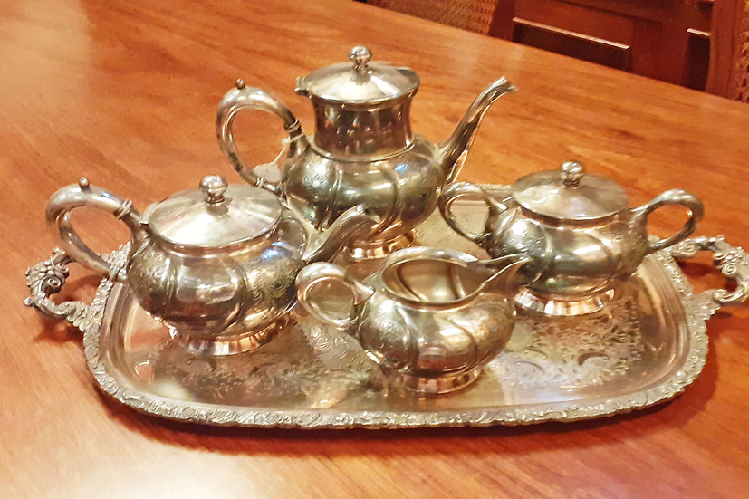Antique Silver Plate 5 Pc. Tea Set, Southington C. Co. Chicago,Il