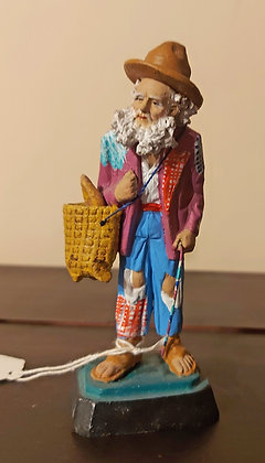 """Old Man Bread Seller,  Mexican Tourist Pottery, 5"""" tall"""