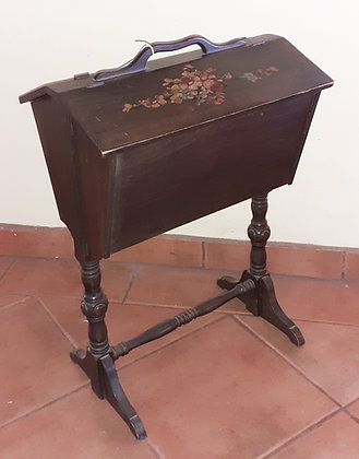 Antique Hand Painted Sewing Box